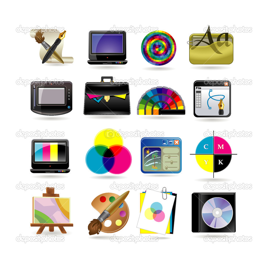 Graphic design icon set  Stock Vector #3863584