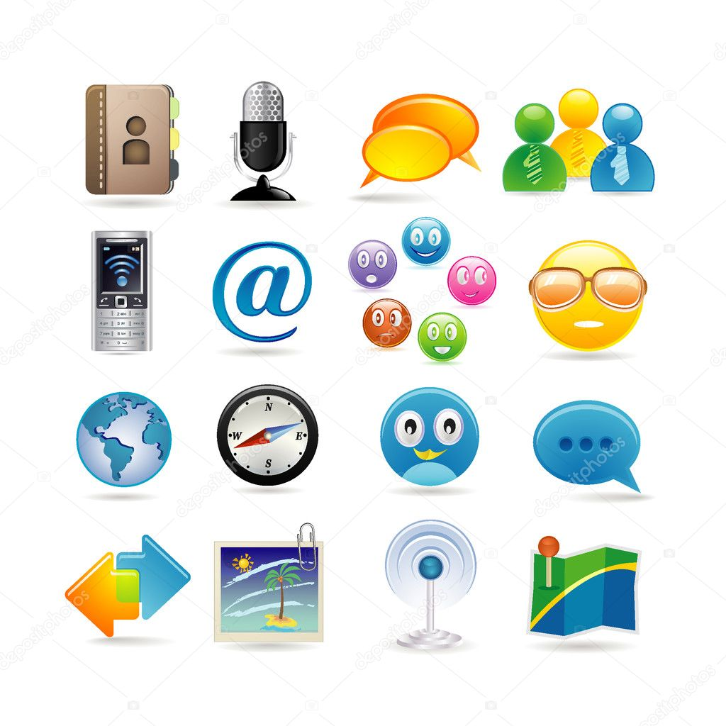 Social media icon set — Stock Vector #3863756