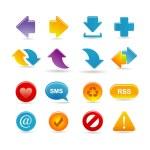 Arrows icon set — Stock Vector