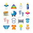 Baby icon set - Stock Vector
