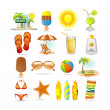 Royalty-Free Stock Vector Image: Beach icon set
