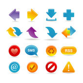 Arrows icon set — Stockvector