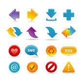Conjunto de ícones de setas — Vetorial Stock