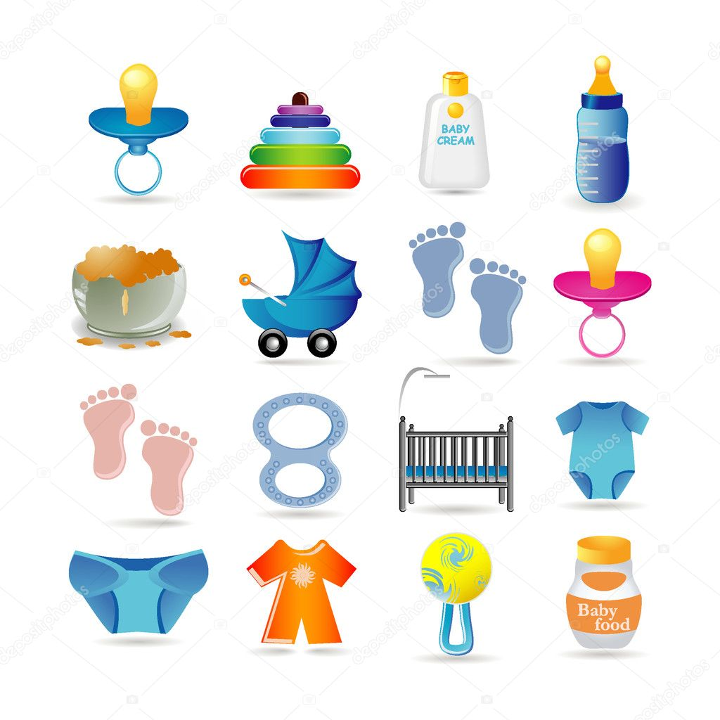 Baby icon set — Stock Vector #3884007