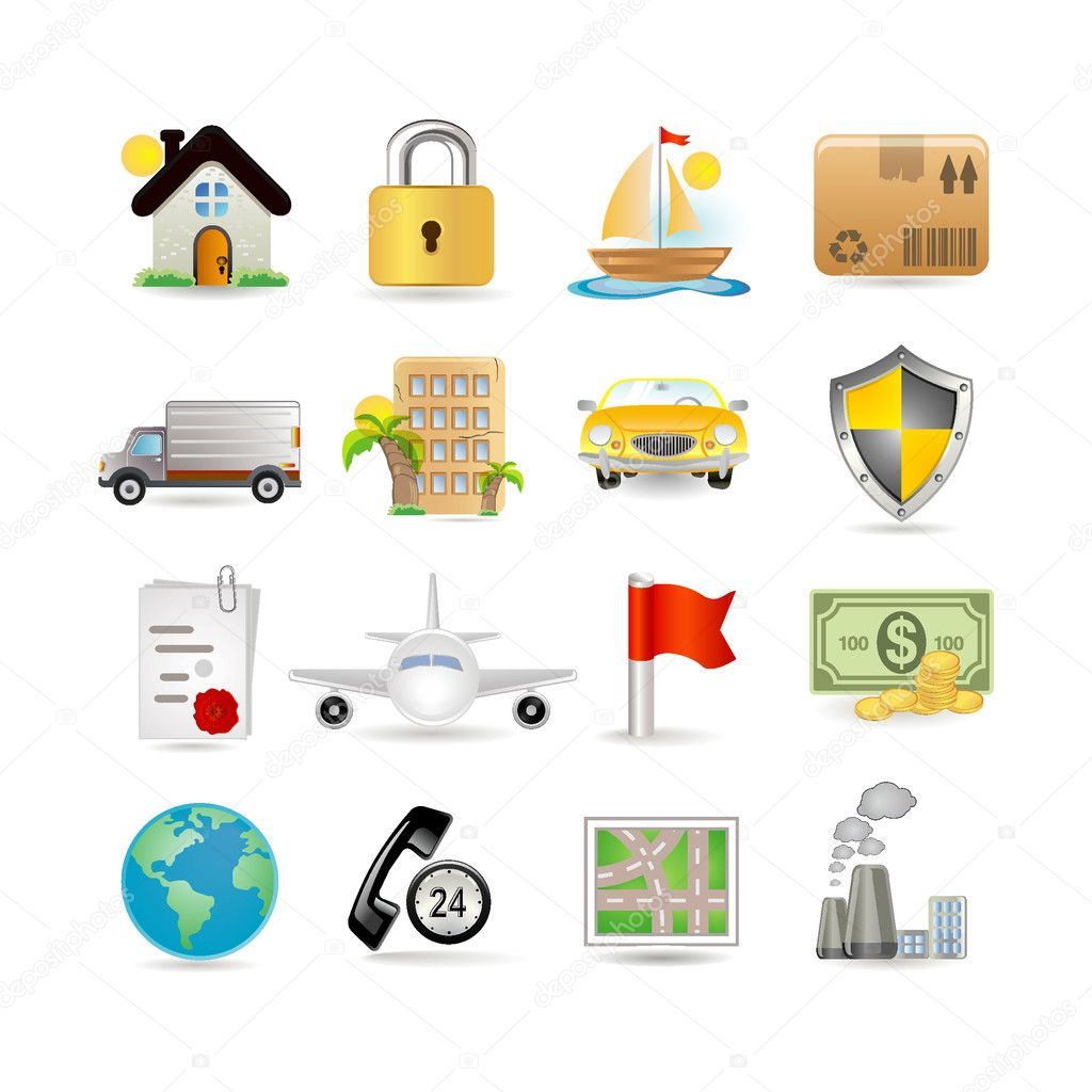 Insurance Icon Set — Stock Vector #3884023
