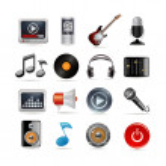 set di icone musicali — Vettoriale Stock