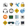 Stock Vector: network icons