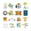 Travel icon set - Stockvektor