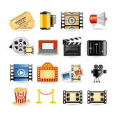 Movie icon set — Stok Vektör