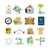 Icona set da viaggio — Vettoriale Stock