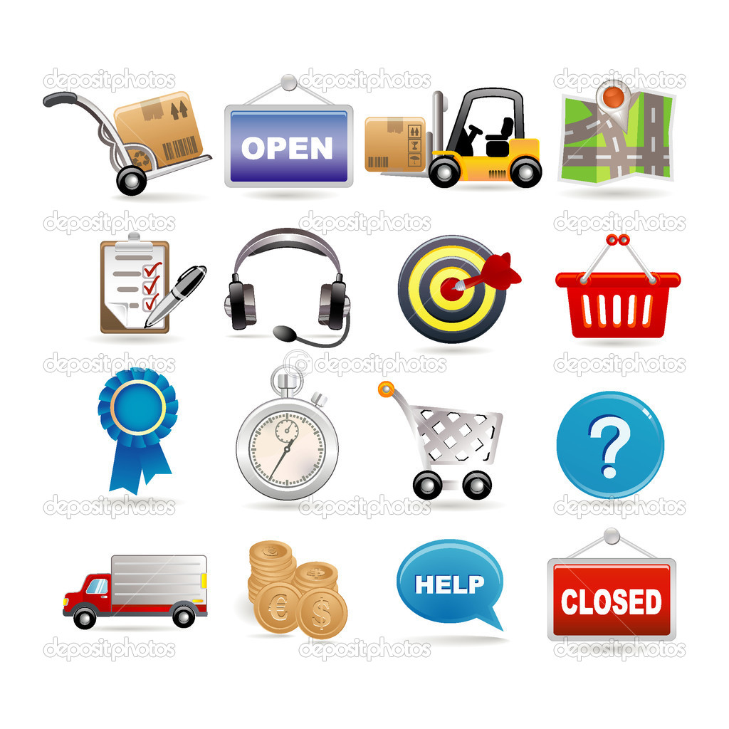 Shopping and logistic icon set   Stock Vector #3891447