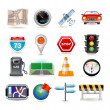 Navigation icon set — Stock Vector
