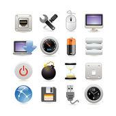 Set di icone computer — Vettoriale Stock