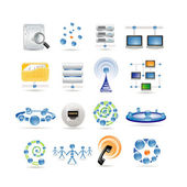 Connection and Internet icons — Stock Vector