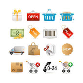 Shopping set — Stock Vector