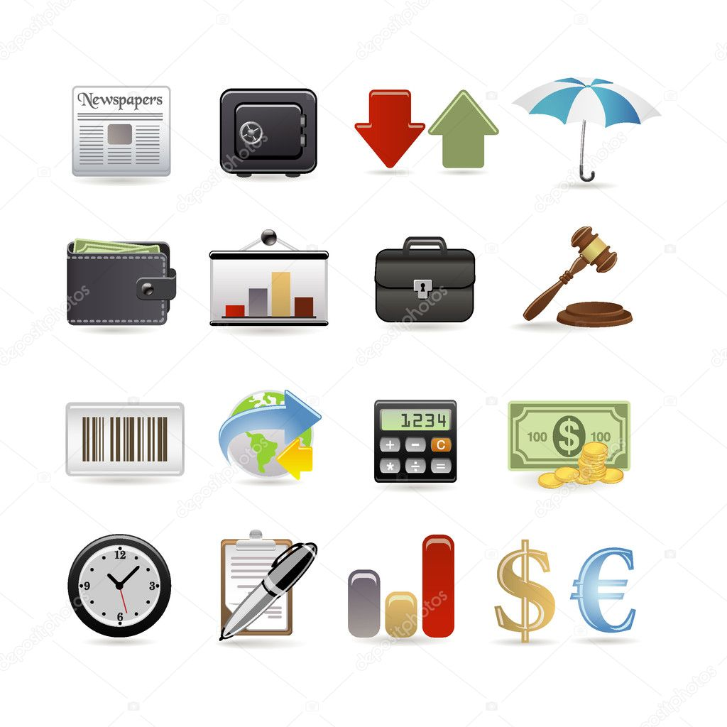 Finance icon set — Stock Vector #3911744
