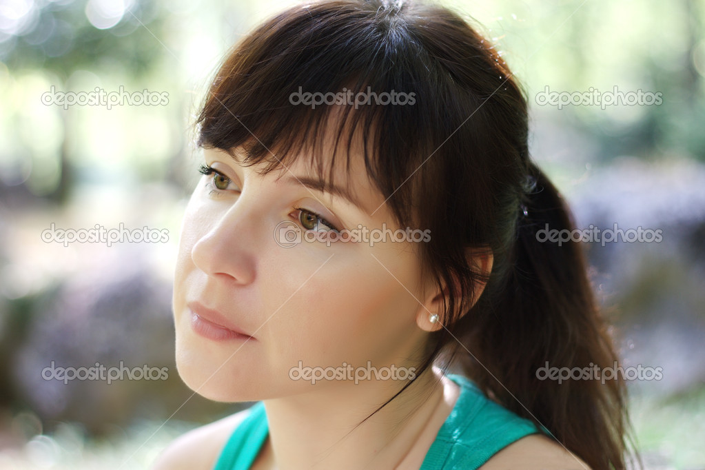 Young woman in contemplation — Stock Photo #3819776