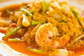 Fired curry shrimp — Stock Photo