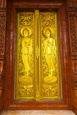 Thai Temple door — 图库照片