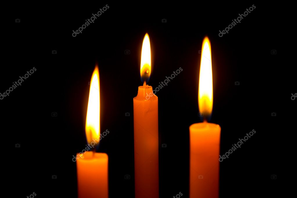 The candle in the dark room — Stock Photo #3826819