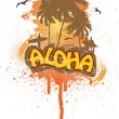 Vector de stock : Tropical Aloha