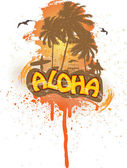 Tropical aloha — Vector de stock