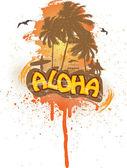 Tropical aloha — Vector de stock