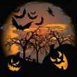 Scary Halloween — Stock Vector