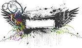Floral Grunge Banner — Stock Vector