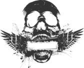 Skull Grunge Banner — Stock Vector