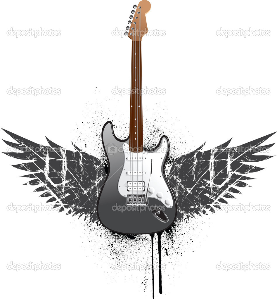 Background Images of Guitars Guitar With Wings Background