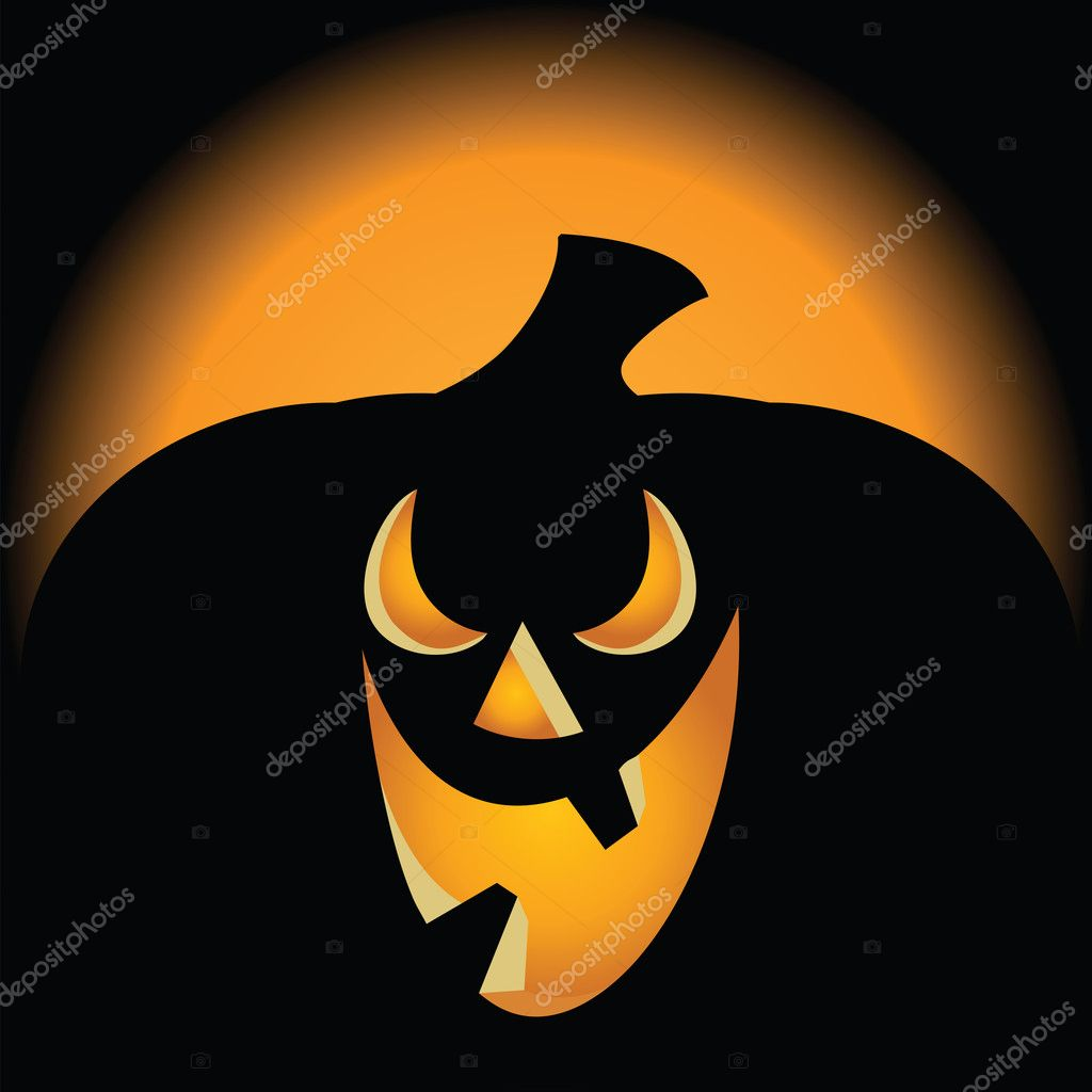 Spooky Pumpkin  Background  Stock Vector #3895282