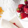 Fresh strawberry on cook table — Stock Photo #3774659