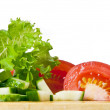 Fresh ingredients for a salad — Stock Photo