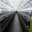 Factory on manufacture of threads - Stockfoto