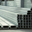 Warehouse of an aluminum profile — Stockfoto