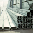Warehouse of an aluminum profile - Stock Photo