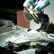 Stockfoto: Circular saw in workshop