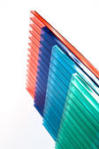 Polycarbonate sheets — Stock Photo