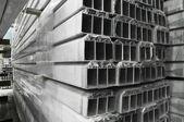 Warehouse of an aluminum profile — Stock Photo