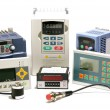 Industrial frequency inverters, incremental encoders and counters - Stock Photo