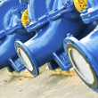 Blue water pumps - Stock Photo
