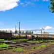 Freight train on station — Stock Photo #3853554