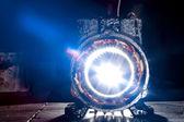 Flash through the stator — Stock Photo