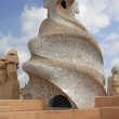 Stock Photo: Roof detail of LPedrera, Barcelona, Spain