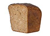 The Cut muffin of the pumpernickel on white background. — Stock Photo