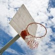 Basketball Net in sunny - Stock Photo