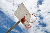 Basketball Net in sunny — Stock Photo
