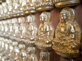 Mil estátuas de buda na parede do templo — Foto Stock