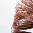 Skein of coated cooper cable — Stock Photo